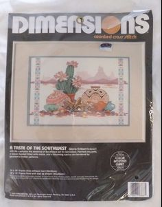 A Taste of the Southwest Dimensions Cross Stitch Kit 3687 Gloria Eriksen New #Dimensions #Sampler