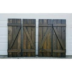 """Wood shutters """"Z"""" bar shutters on their way to California! ❤"""