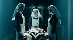 In the 2010 film version of Macbeth: the weird sisters depicted as nurse-witches, then cooks, then servants -- they unsettle by continually invading what should be safe spaces