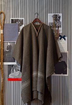 Le Pontero 'poncho' In Army Wool via Etsy.