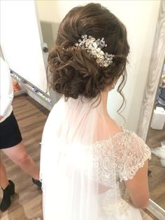 Char's wedding updo @madeupandcuttinup Follow me on IG