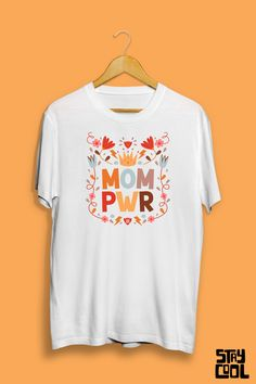 Dia das mães Mom, Tees, Mens Tops, T Shirt, Fashion, Mother's Day, Block Prints, Templates, Supreme T Shirt