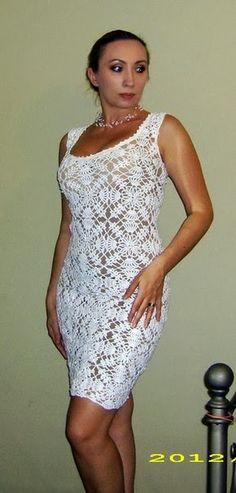 Crochê Gráficos: Vestido lindo