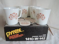 Pyrex Summer Impressions Mugs Four in Original Box by GRCBooks, $18.00