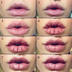 Kylie Jenner / Angelina Jolie lips without injections - makeup / lip tutorial from Mellifluous Mermaid - how to get plump, full lips using just lipliner, lipstick and highlighter #SparklyLipGloss #LipPencilColors