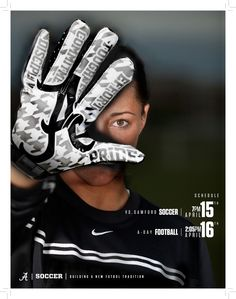 Alabama Athletics Promotional Posters by Hannah Brinks