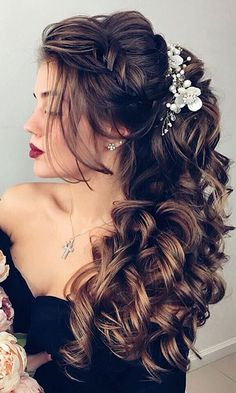 Beautiful curls for the hair