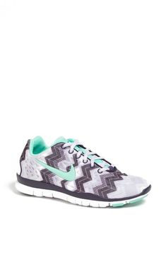 Nike Free Print Mint & Chevron Training Shoe Nikes, I love these I would totally wear them!!