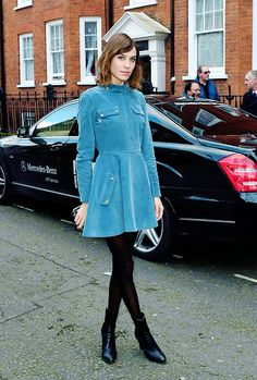 Alexa Chung out and about in London 21.02.15 (via Bloglovin.com )