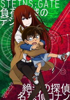 Makise Kurisu (Steins;Gate) & Edogawa Conan (Detective Conan)