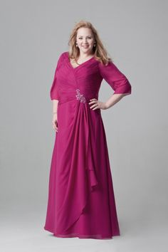 Choose a color that goes along with the party theme. Take a message from the Plus Size Mother Of The Bride Dresses and bridesmaids dress color color and then decide your dress color