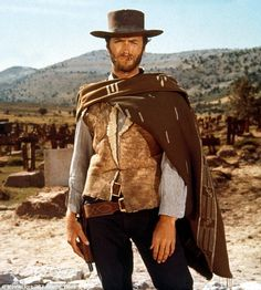 The original: The hunky star in his poncho in the third movie in the trilogy, The Good, T...