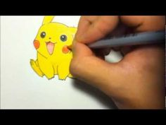 How to Draw Pikachu (Pokemon Tutorial + Coloring) [HD] - YouTube
