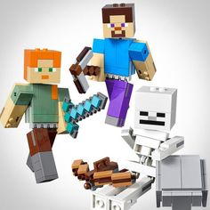 LEGO Minecraft series expands in 2019 with BigFigs [News] Lego Minecraft, Lego News, Lego Creations, Legos, Brick, Articles, Projects, Lego, Bricks