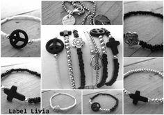 Hippie style bracelets in black!www.villavica.nl