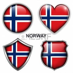Norway flag icons,  buttons.  Stock Photo - 20344007
