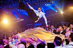 Lively hora dance | Found on Modern Jewish Wedding Blog | Classic Orthodox Modern Jewish Wedding in Quebec |