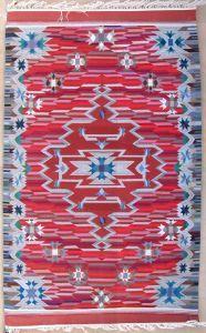 Carnelian - 54x84 Chimayo blanket, handwoven wool