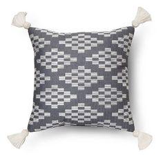 Herringbone Embroidered Square Decorative Pillow (18