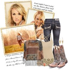 A little bit country by kimzarad1 on Polyvore  boots at www.pfiwestern.com