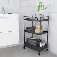 NISSAFORS Utility cart IKEA Perfect for use in your kitchen, bathroom or where you need some extra storage space. Extra Storage Space, Storage Spaces, Bathroom Cart, Ikea Bathroom Storage, Catalogue Ikea, Ikea Cart, Ikea Trolley, Serving Trolley, Ikea Home