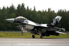 RECOVERY: RED FLAG-ALASKA 15-3 General Dynamics F-16C Viper USAF 86-0320 18th Aggressor Squadron (AGRS)