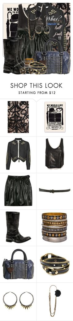 """""""Studs and leather."""" by thishotperson ❤ liked on Polyvore featuring Temperley London, 3.1 Phillip Lim, Burberry, H by Hudson, Fantasy Jewelry Box, HTC, Jo No Fui, Betsey Johnson, Stephen Webster and Forever 21"""