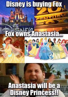 Anastasia will finally become a Disney Princess!!!!
