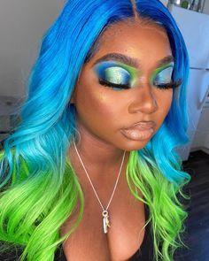 Unique Makeup, Pretty Makeup, Makeup Looks, Beauty Makeup Tips, Hair Beauty, Brown Skin Makeup, Eye Makeup Designs, Multicolored Hair, Coloured Girls