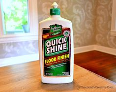 linoleum too!!!       Shine Dull Floors in Minutes - Chaotically Creative