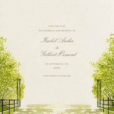 Spring Orchard by Felix Doolittle for Paperless Post.  Available on paper and online. Customize your wedding save the date to match your personal style on paperlesspost.com.