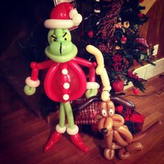 This cute Grinch balloon animal wants to crash your party.