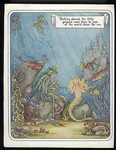 1912 Kangaroo Large Original Antique Illustration Vintage Cartoon Story Illustration Mounted and Matted Nursery Decor