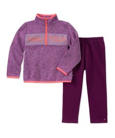 1952fcd6734 Nautica Purple Zip-Front Pullover   Dark Purple Pants - Infant   Toddler