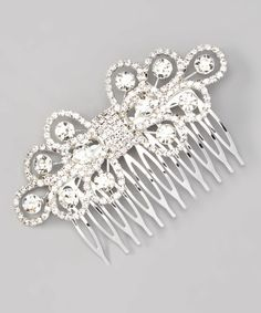 Another great find on #zulily! Silver & Rhinestone Comb #zulilyfinds