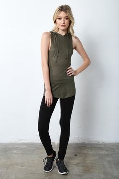 STYLE # 179887 Web Exclusive MEREDITH JUNIORS HOODED TANK TOP $6.99 Athleisure Trend, Athleisure Fashion, Online Marketing, Make Your Own, Normcore, Tank Tops, Stylish, Halter Tops