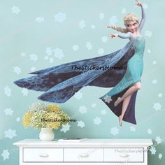 Extra-Large-FROZEN-ELSA-Snowflakes-Wall-Stickers-Girls-Bedroom-Decor-Nursery-Art