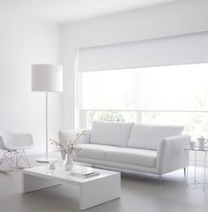With a touch of colour Living Room Blinds, House Blinds, Living Room Tv, Fancy Living Rooms, Home And Living, Home Curtains, Curtains With Blinds, Cortinas Rollers, Home Room Design