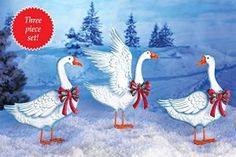 These Snow Geese Garden Stakes will make a unique holiday decoration in your yard.