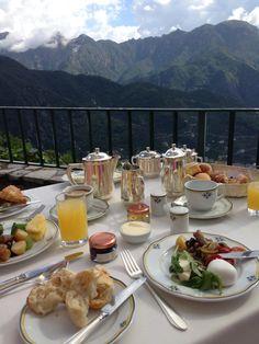 Heaven on earth - Breakfast at the Palazzo Avino, Ravello Italy.