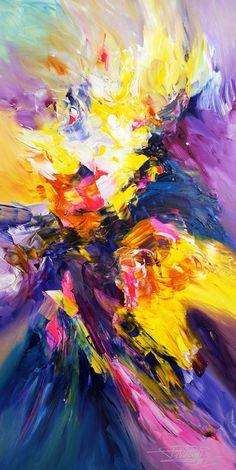 Abstract painting, original artwork, Huge Success X 1, Peter Nottrott