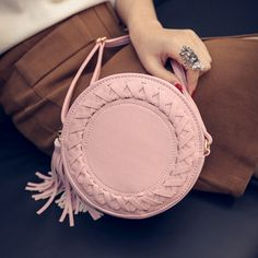 Zafraa Pink Leather Solid Sling Bag
