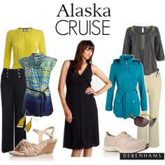 Essentials for an Alaska cruise, created by debenhams on Polyvore