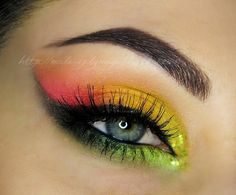 Loving this bold and colorful look by Make-upByMaya on Makeup Geek.