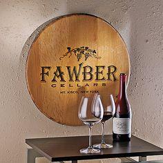 49 Best Wine Barrel Head Decor Images Bottle Art Glass Bottles