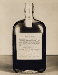 "Bottle of bonded medicinal whiskey, ""For Medical Purposes Only"""