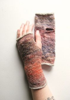 Ambient Rose Hand Knit Wrist Warmers. $30.00, via Etsy.
