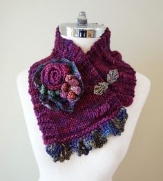 Floral Rose Scarf One of a kind Rose Scarf by ValerieBaberDesigns