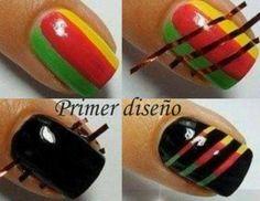 Diseño de uñas colorido y fácil de realizar