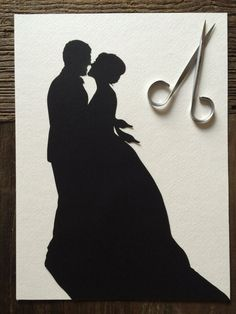Custom Anniversary Paper Portrait 8 by 10 Wall Art - First Anniversary Paper Gift Silhouette Pictures, Silhouette Portrait, First Anniversary Paper, Wedding Silhouette, Glue Crafts, Photo Look, Paper Gifts, Photo Art, Wedding Photos
